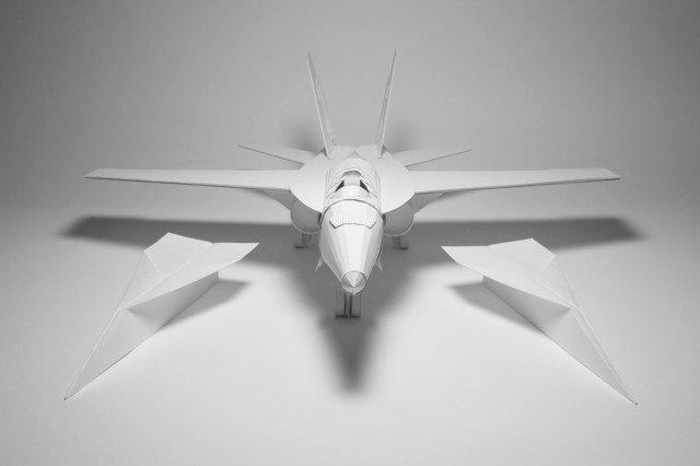 як зробити з паперу літак-винищувач