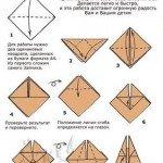 Схема орігамі для дітей – пасхальний зайчик