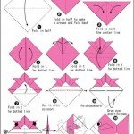 Орігамі з паперу – схема складання рибки