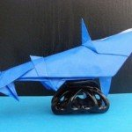 Акула орігамі за схемою Gilgado Fernando