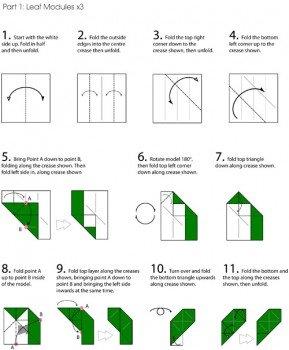 Роза оригами пошаговая инструкция схема 48