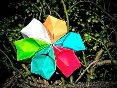 Як зробити паперову квітку схема зборки