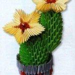 Квітучий кактус орігамі