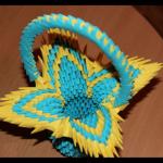 Красива модульна корзинка орігамі