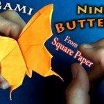 Орігамі з паперу Метелик за схемою Jeremy Shafer