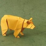 Ведмідь орігамі за схемою Stephen Weiss