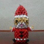 Модульне орігамі Дід Мороз майстер-клас