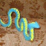Модульне орігамі Змія відео майстер-клас