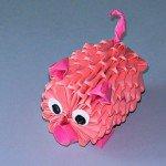 Модульне орігамі Свинка