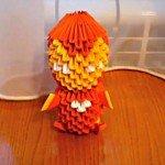 Модульне орігамі Залізна людина (Iron Man)