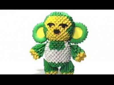 Модульне орігамі мавпа схема зборки