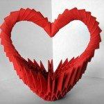 Модульне орігамі – подарункова Кошик сердечко