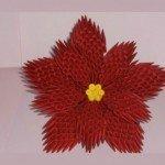 Модульне орігамі квітка – Пуансеттия