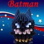 Орігамі Бетмен з трикутних модулів
