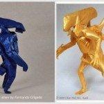 Орігамі Чужий: два варіанти складання