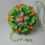Орігамі з паперу кусудама «Sweet Spring» від Наталії Романенко