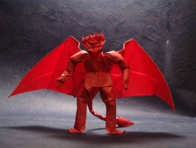 Орігамі страшні Демон з крилами