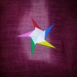 Об'ємна орігамі зірка за схемою Klaus-Dieter Ennen