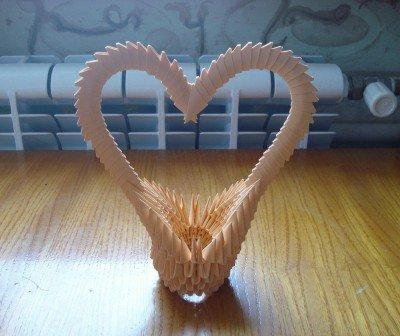 Подарунок на 14 лютого - модульне орігамі корзинка