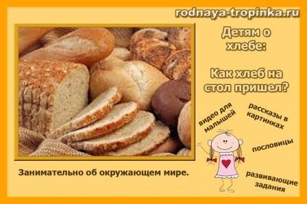 дітям про хліб
