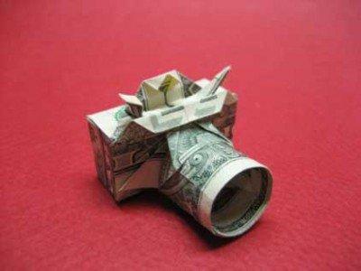 Фотоапарат орігамі з долара