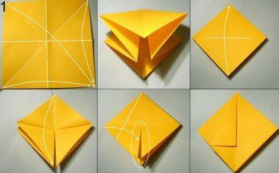 орігамі Павук-Краб схема 1