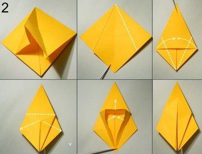 орігамі Павук-Краб схема 2