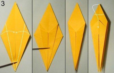 орігамі Павук-Краб схема 3