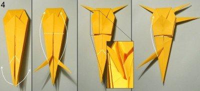 орігамі Павук-Краб схема 4