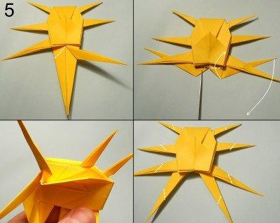орігамі Павук-Краб схема 5