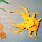 Краб-павук орігамі за схемою Jo Nakashima