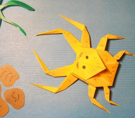 Павук-Краб орігамі