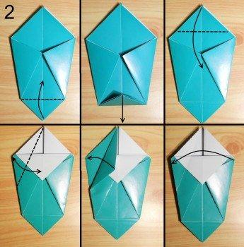Схема вазочки из бумаги своими руками