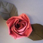 Орігамі Роза – Evi Rose за схемою Evi Binzinger