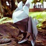 Орігамі Кролик за схемою Jun Maekawa