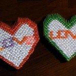 Орігамі на день Святого Валентина – Два сердечка