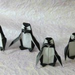 Орігамі пінгвін за схемою Fernando Gilgado