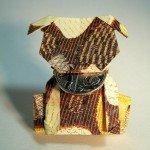 Орігамі собака виконана в стилі Moneygami