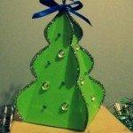 Подарункова коробка Ялинка орігамі