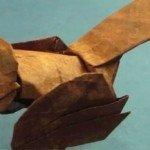 Орігамі пташка Воробей за схемою Kade Chan