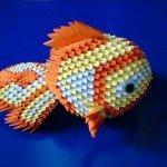Рибка орігамі з трикутних модулів