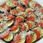 Кабачки, запечені з сиром і помідорами