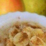 Вівсяна каша з грушею