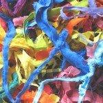 Заняття з Монтессорі, розвиток дотику: ящик з шматочками тканин