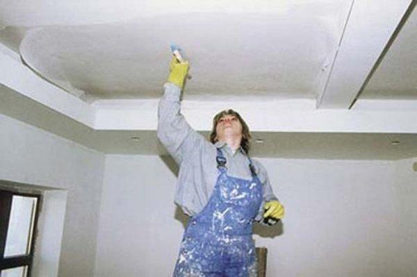 Як білити стелю?