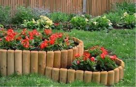 Садовий бордюр на дачі